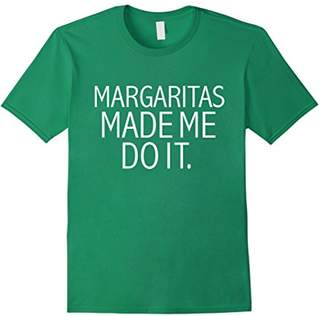 Funny Margaritas Made Me Do it T-shirt Drinking Brunch Tee