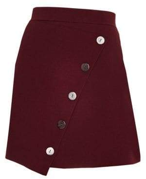 Sandro Autumn Berkeley Fiji Asymmetric Button Skirt
