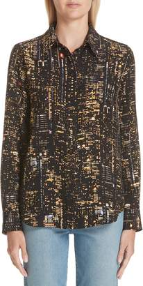 Marc Jacobs City Print Silk Shirt
