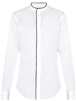 Giorgio Armani Stand Collar Cotton Shirt - Mens - White