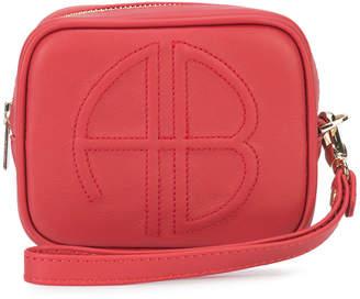 Anine Bing logo zipped pouch