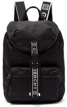 Givenchy Light 3 Leather Trimmed Nylon Backpack - Mens - Black White d64b7d2c91f88