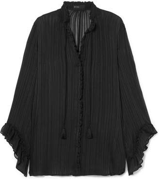 Etro Silk-jacquard Blouse - Black