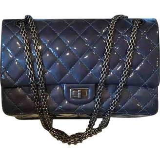 Chanel 2.55 Blue Patent leather Handbags