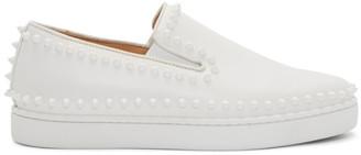 Christian Louboutin White Pik Boat Sneakers