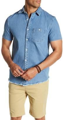 Threads 4 Thought Frayed Denim Regular Fit Shirt