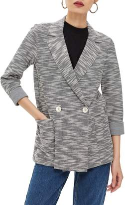 Topshop Boucle Button Jacket