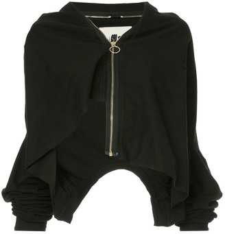 aganovich layered zip-up jacket