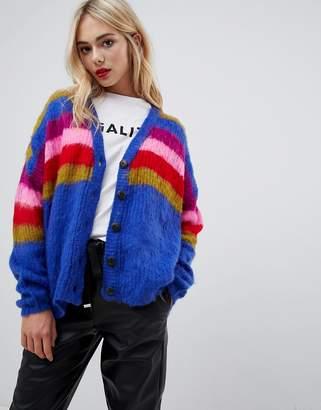 QED London multi stripe brush cardigan