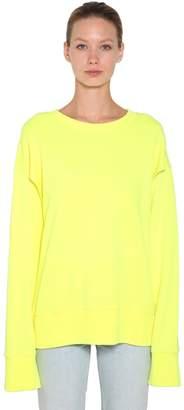 MM6 MAISON MARGIELA (エムエム6 メゾン マルジェラ) - MM6 MAISON MARGIELA オープンスリーブ コットンスウェットシャツ