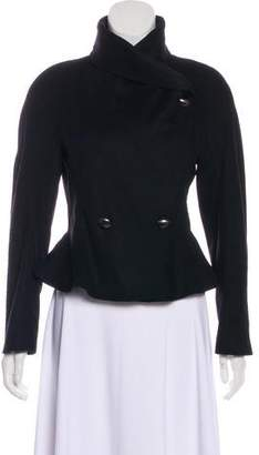 Blumarine Funnel Neck Wool-Blend Jacket
