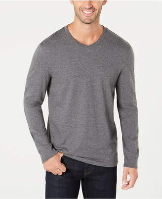 Club Room Men's V-Neck Long Sleeve T-Shirt