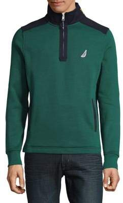 Nautica Colorblock Quarter-Zip Fleece Pullover