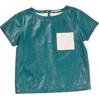 Gerard Darel Green Leather Top for Women