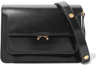 Marni Trunk Leather Shoulder Bag - Black