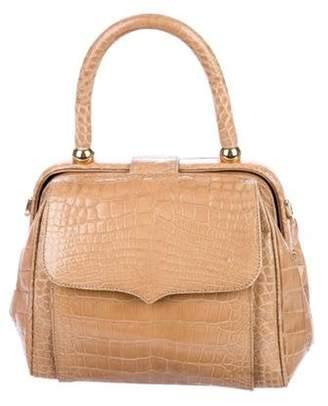 Lana Marks Alligator Top Handle Bag Tan Lana Marks Alligator Top Handle Bag