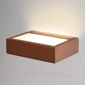 LED-Wandleuchte Viva aus Corten