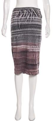 Raquel Allegra Two-Tone Knee-Length Skirt