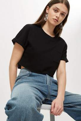Topshop Cut Off Crop T-Shirt