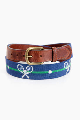 Smathers and Branson Crossed Racquets Needlepoint Belt