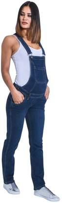 G8 One Maternity Bib Overalls - Darkwash Denim Pregnancy Jean