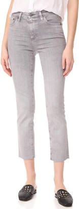 AG The Isabelle Straight Crop Jeans $235 thestylecure.com