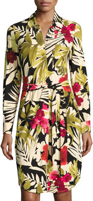 Tommy Bahama Victoria Blooms Jersey Shirtdress, Multi $125 thestylecure.com