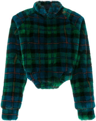 Esteban Cortazar textured checked turtleneck sweater