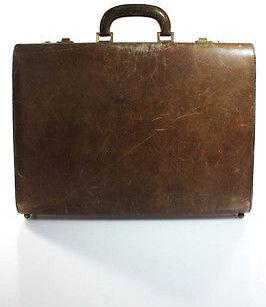 Bottega VenetaBottega Veneta Vintage Brown Pressed Leather Briefcase