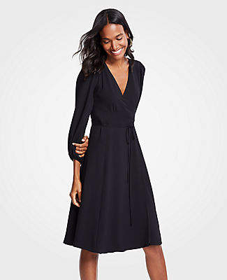 Ann Taylor 3/4 Sleeve Wrap Dress