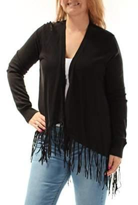 MICHAEL Michael Kors Women's Drape Front Fringe Cardigan XS