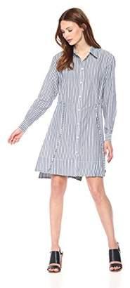 French Connection Women's Tie Waist Detail Shirt Dress,2