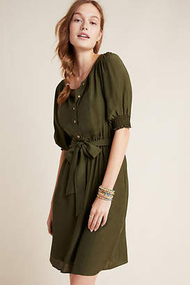 Anthropologie Nicole Puff-Sleeved Shirtdress