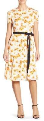 Carolina Herrera Butterfly-Print Dress
