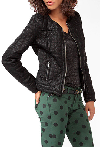Forever 21 Quilted Bomber Jacket