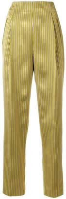 Etro striped tapered trousers