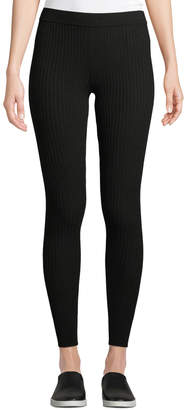 Vince Ribbed Stretch-Wool Leggings