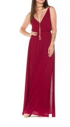 Bella Burgundy Maxi Dress $86 thestylecure.com