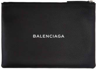 Balenciaga (バレンシアガ) - Balenciaga ブラック ロゴ ジップ ポーチ