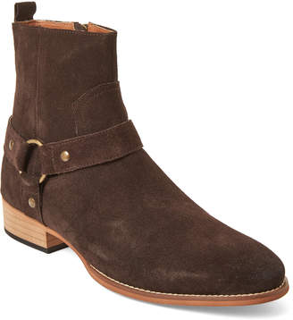 Steve Madden Brown Palazo Zip Suede Boots