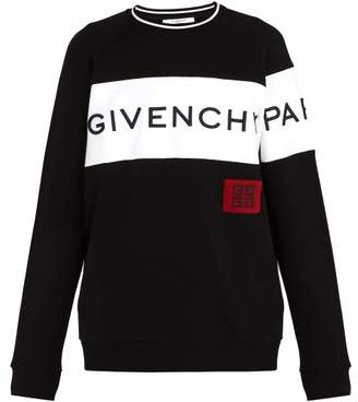 Givenchy Oversized Logo Sweatshirt - Mens - Black