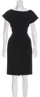 Osman Silk-Blend Knee-Length Dress