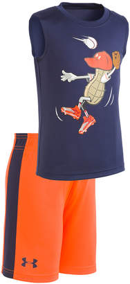 Under Armour 2-Pc. Graphic-Print T-Shirt & Shorts Set, Toddler Boys