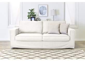 "Serta at Home Colton 85"" Sofa with Slipcover in Cream"