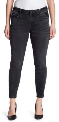 SLINK JEANS Whiskered Ankle Crop Jeggings (Plus Size)