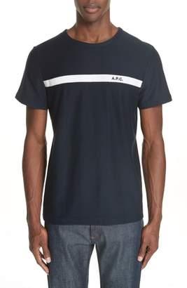 A.P.C. Stripe Logo T-Shirt