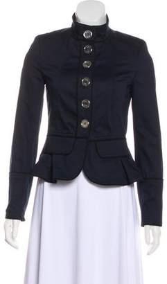 Burberry Button-Up Peplum Jacket