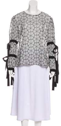 Creatures of the Wind Bow-Accented Eyelet Top