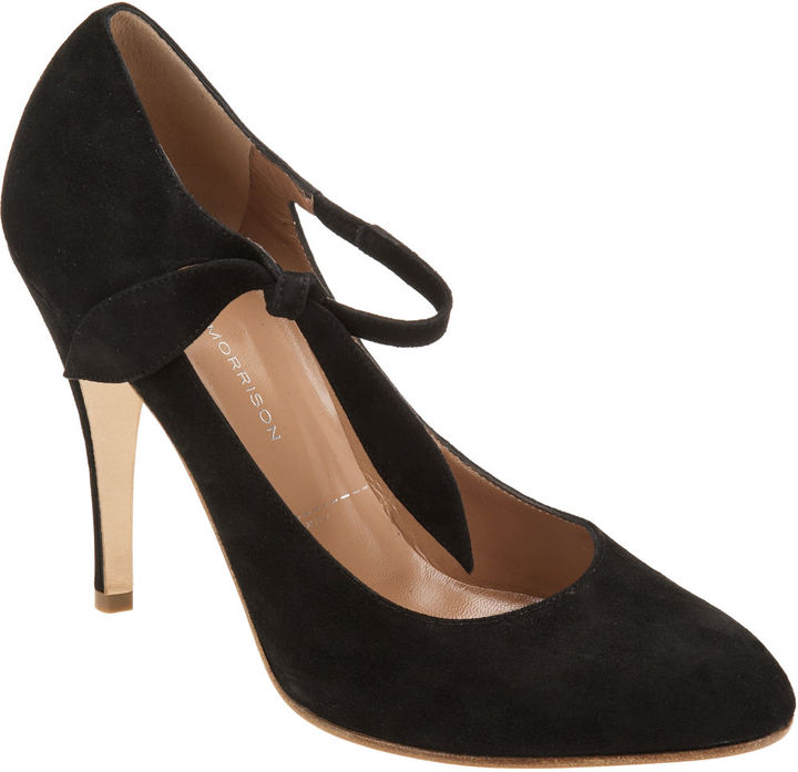 Sigerson Morrison Ankle Tie Pump - Black