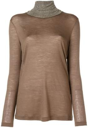 Fabiana Filippi embellished turtleneck top